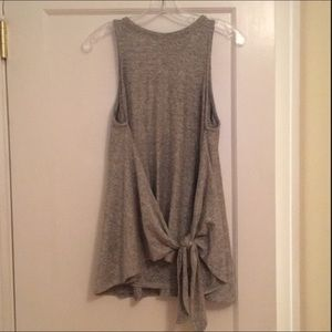 Lou and grey gray tank with knot in front